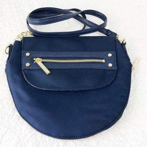 Olivia & Joy blue crossbody bag with gold hardware